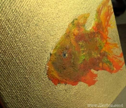 Goldfish on Gold Painting