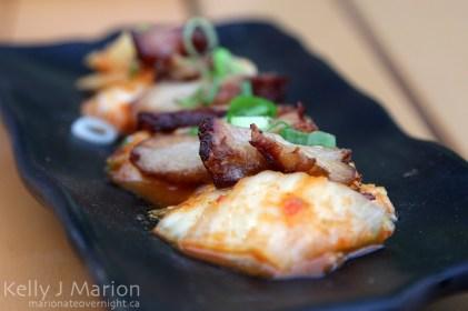 Pork belly on local kimchi, Mizu, Camana Bay