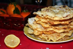 oreillettes on the Christmas table