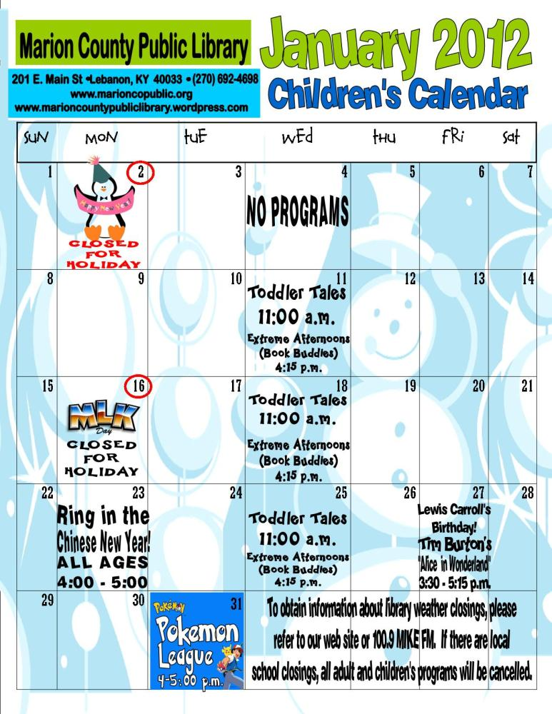 Children's Programming (4/4)