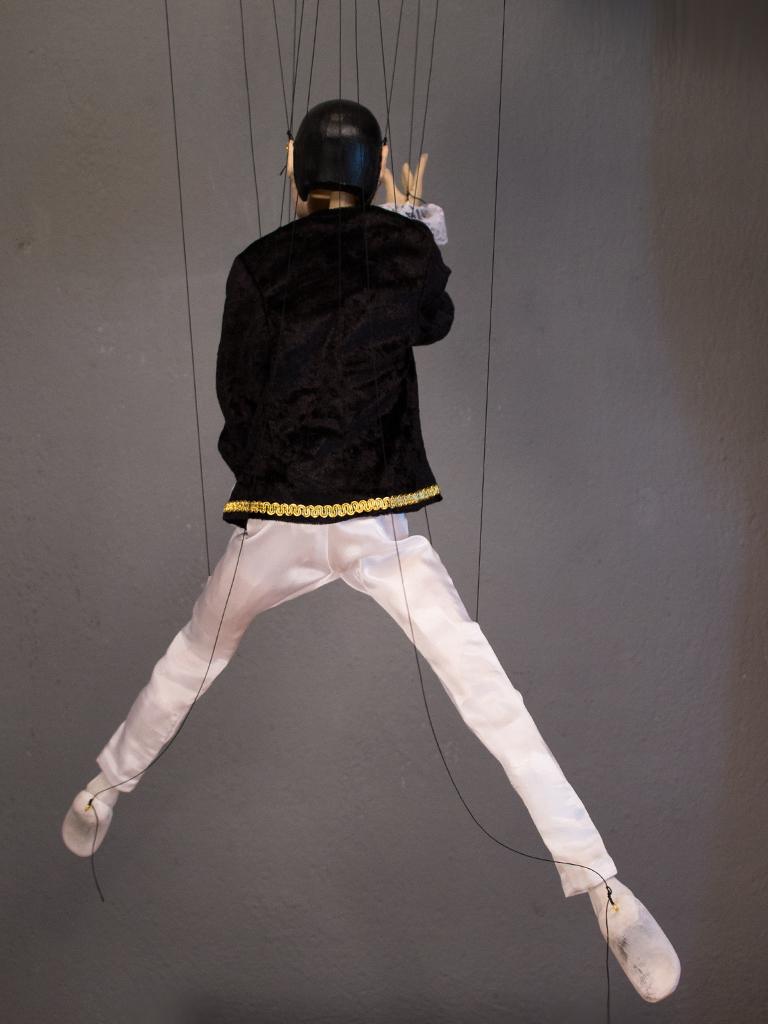 Original Wood Hand Made Marionette Men Ballet Dancer Puppet Carved