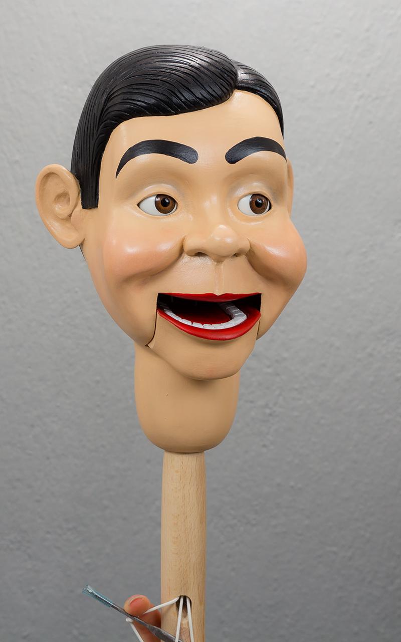 Ventriloquist Dummy From Wood Carved Custom Work Boy