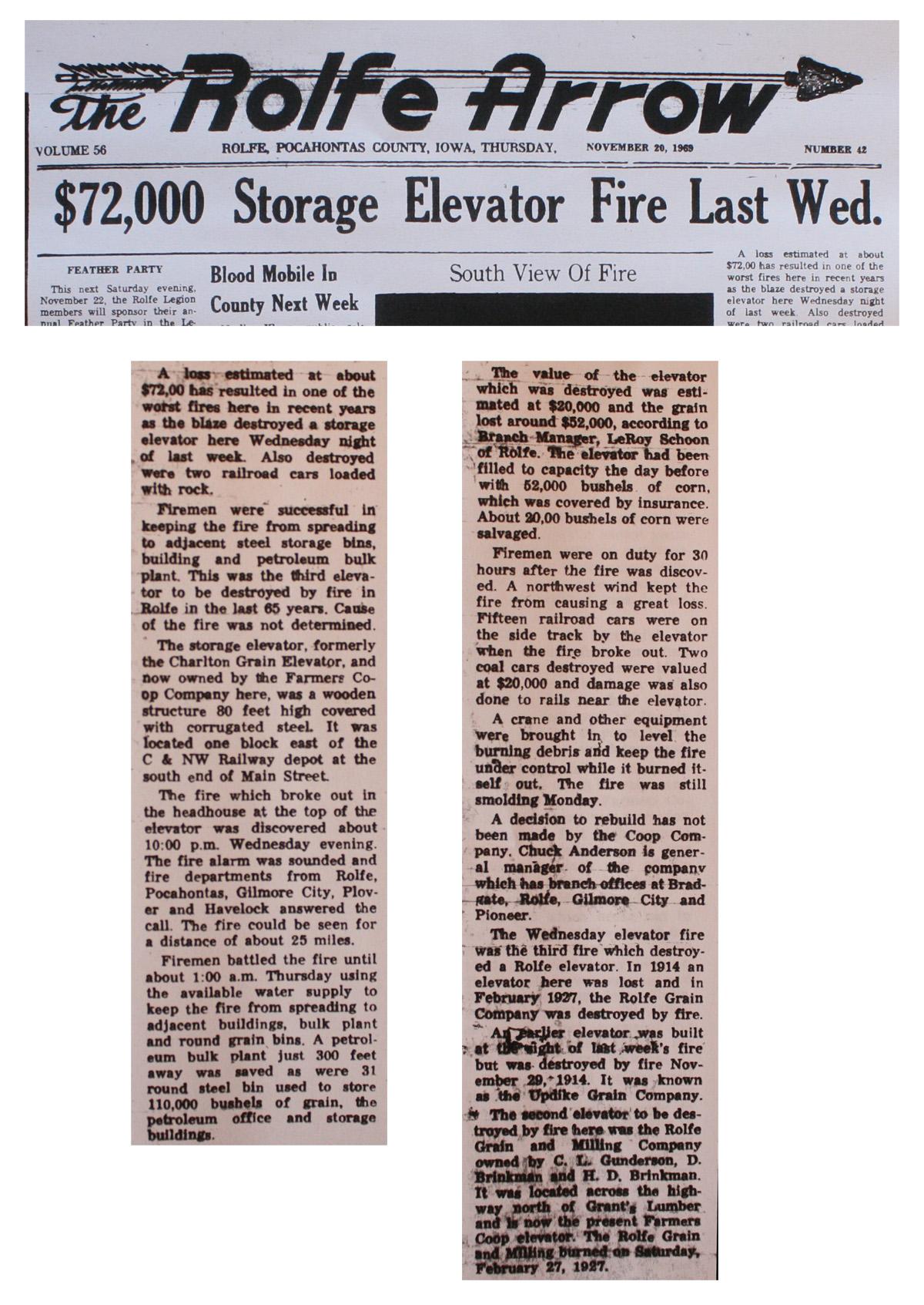 Rolfe elevator fire article 1200 W