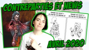 Contreparties Tipeee et News d'avril 2020