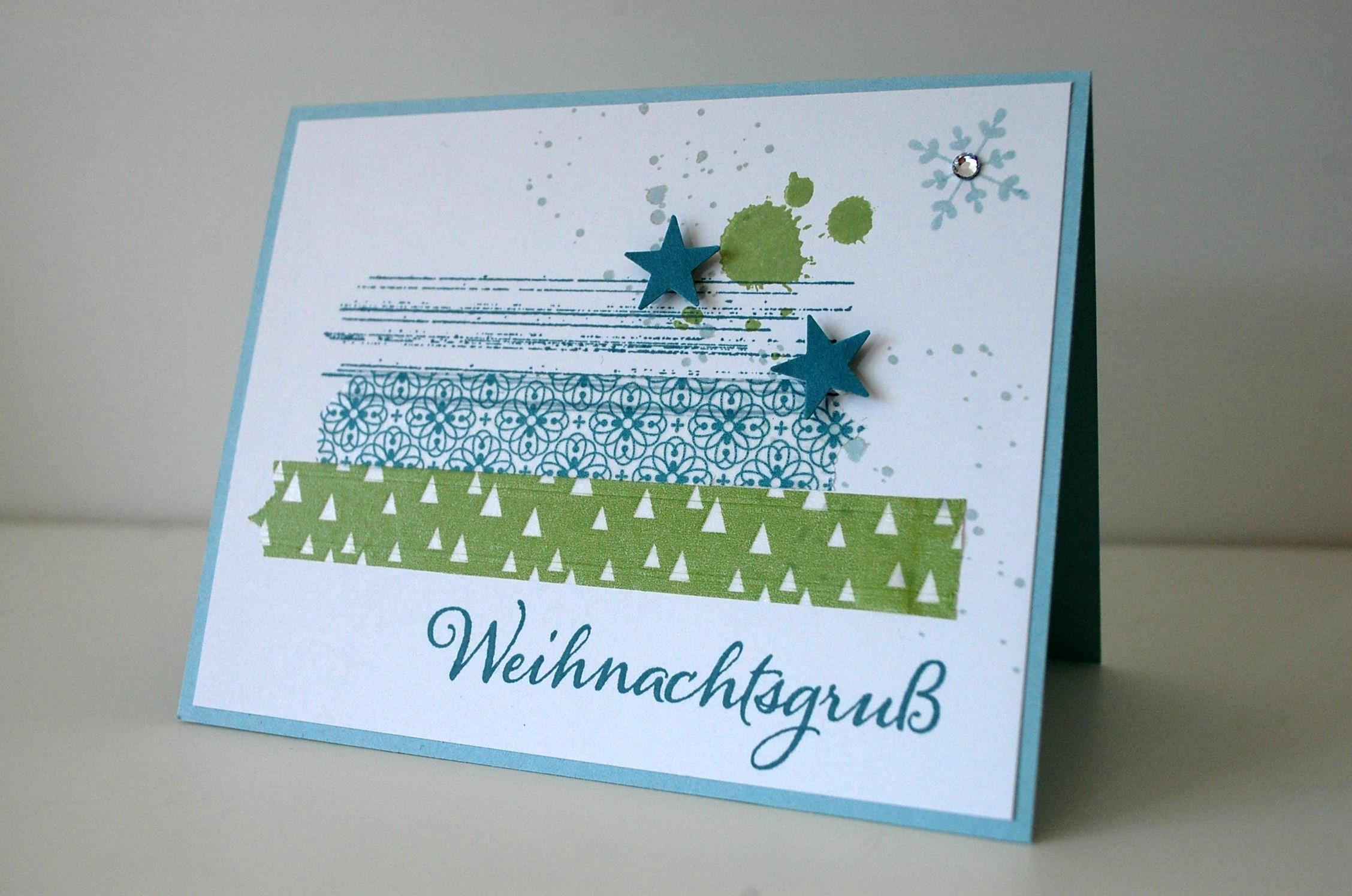 moderne weihnachtskarte mit gorgeous grunge stampin up. Black Bedroom Furniture Sets. Home Design Ideas