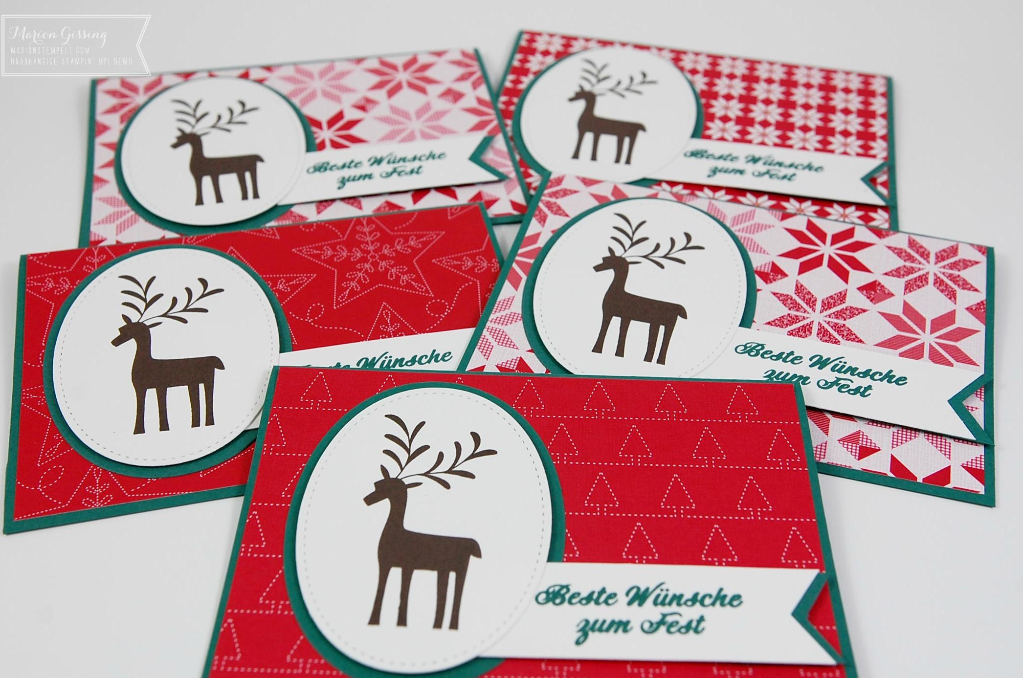 Ideen F303274r Weihnachtskarten.Stampin Up In Munchen Marionstempelt Stampin Up Workshops