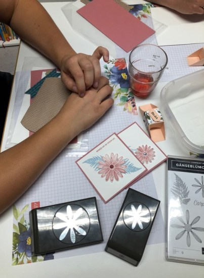 Stampin' Up Workshop, Basteltisch, Muenchen