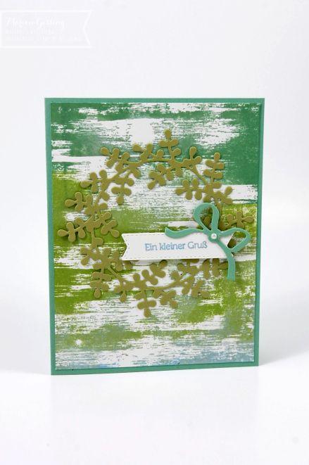 Glückwunschkarte mit dem Stempelset Drybrush von Stampin Up