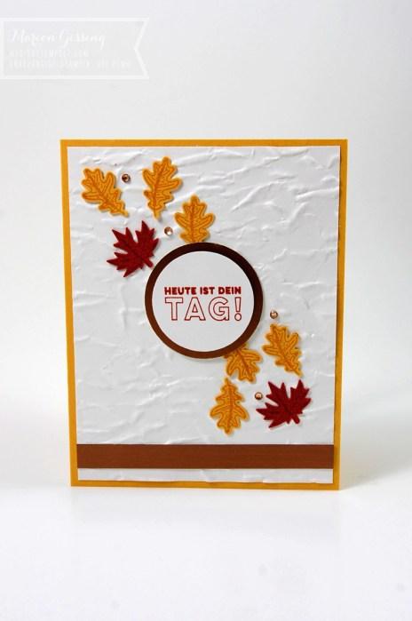 """Geburtstagskarte mit Stampin up Stempelset """"Schöner Herbst"""""""