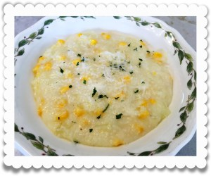 Grits with onions and corn