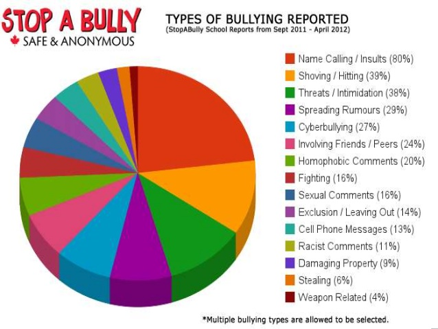 Types of bullying reported