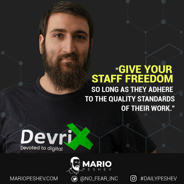Give Your Staff Freedom