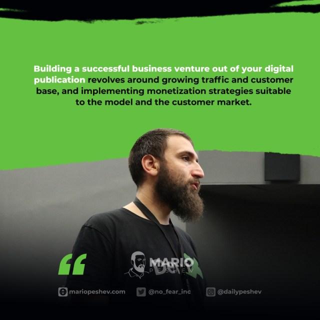 digital publication business venture