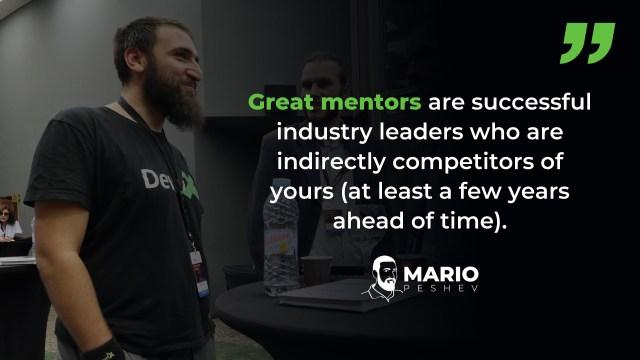 Successful industry leaders as mentors