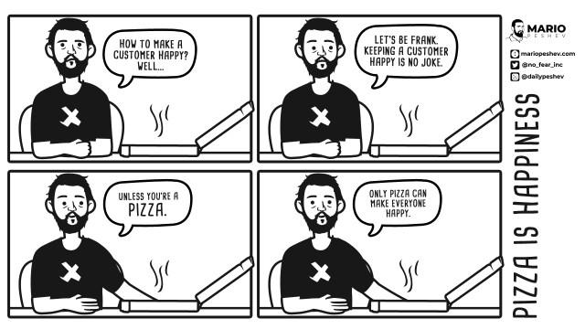 Mario Peshev comics on Retaining Clients