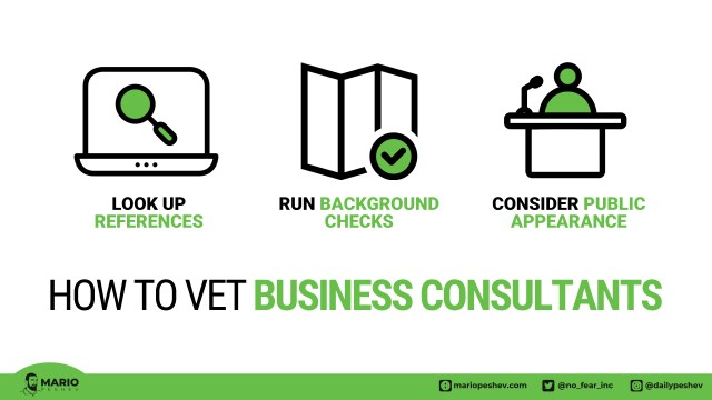how to vet business consultants