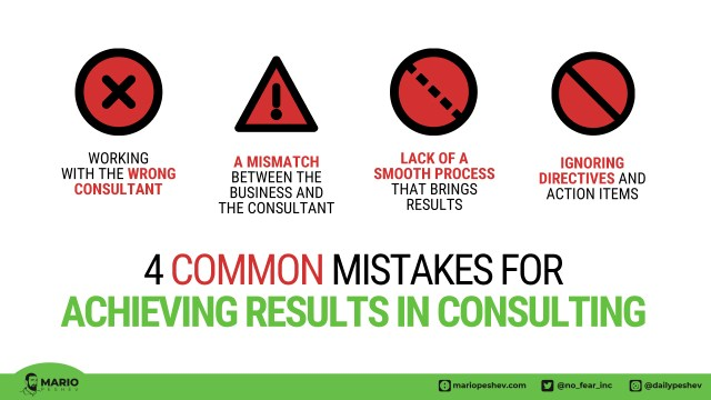 common mistakes in consulting