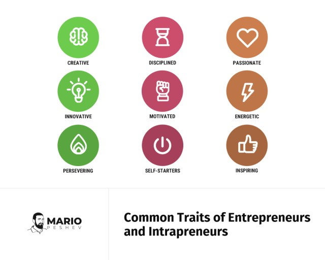 Common Traits of entrepreneurs and intrapreneurs | The intrapreneurship guide