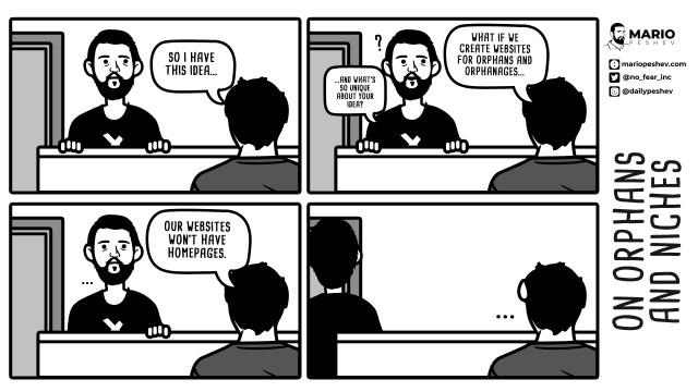 comics on niching down