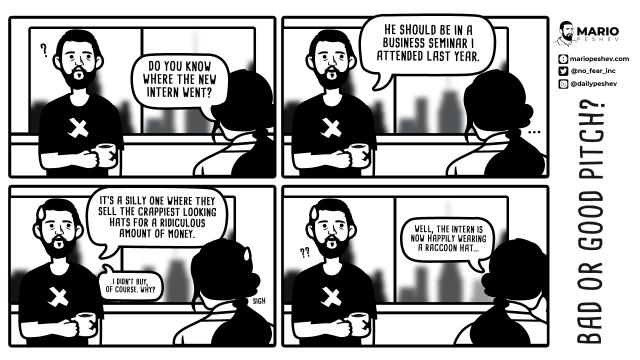 comics on sales pitch