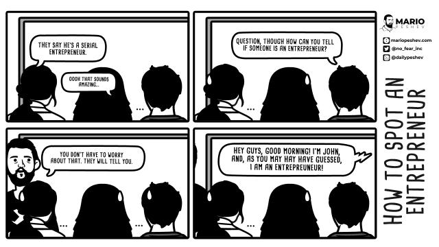 how to spot an entrepreneur comics
