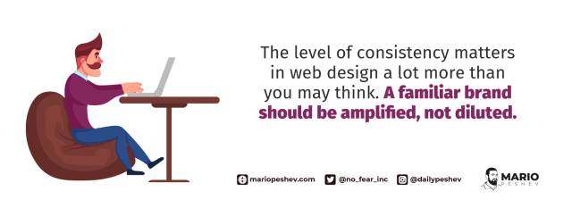consistency in web design