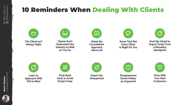Reminders When Dealing with Clients