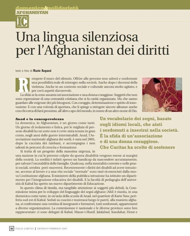 ItaliaCaritas 2005_01 - Afghanistan ANAD sign-language development
