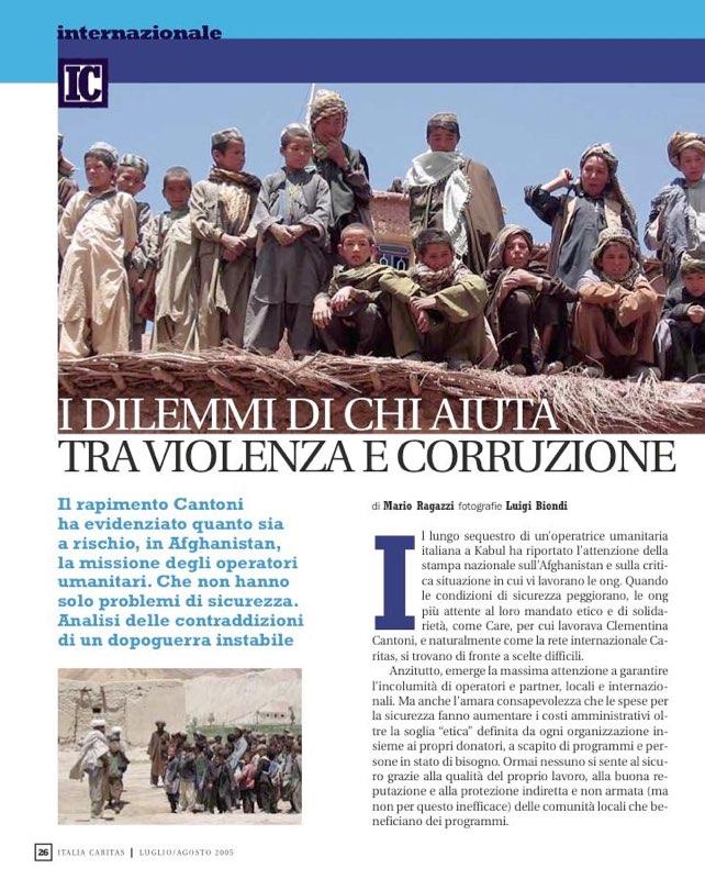ItaliaCaritas 2005_07 - Corruption in Afghanistan