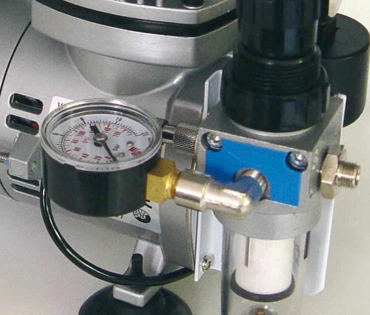 pressione compressore aerografo