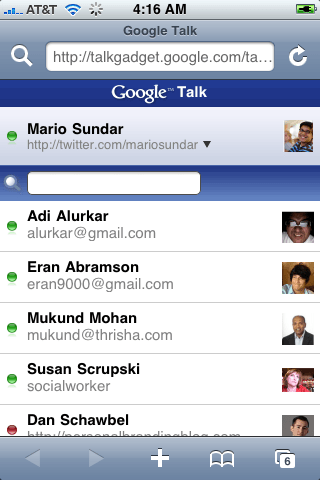 Google Chat on the go (iPhone)