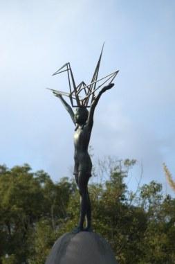 Sadako Sasaki atop the Children's Peace Monument