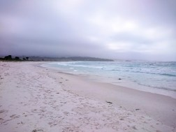 White sand as far as the eyes can see
