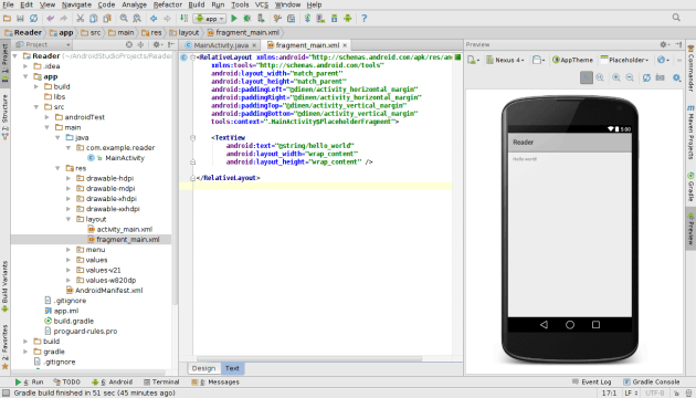 fragment_main.xml no Android Studio