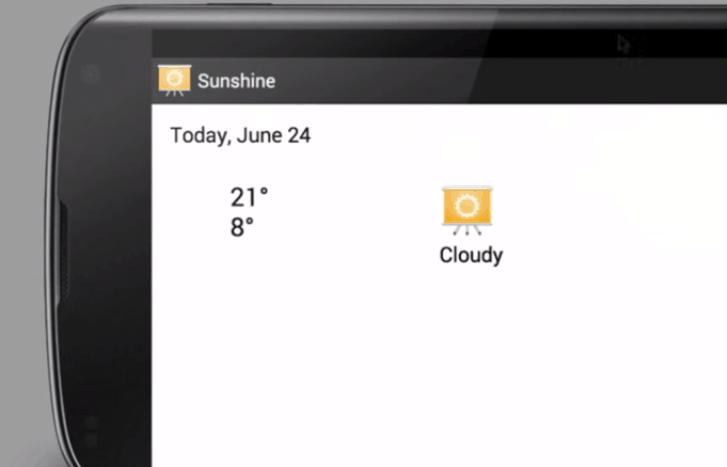 Sunshine App do curso da Udacity