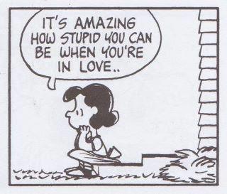 Lucy on love (c) Charles Schultz