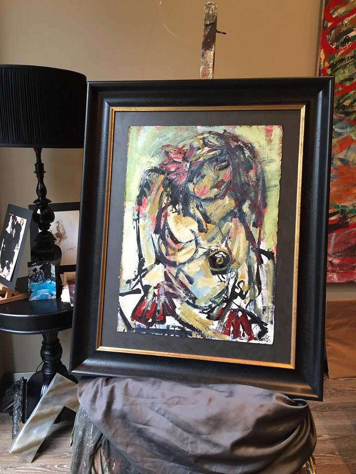 Lillit, óleo de David Callau #cuadros #Zaragoza #MarisaCervantes #arte