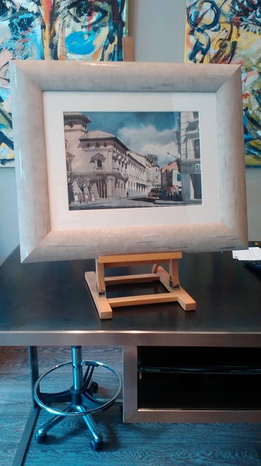 Enmarcación de acuarela #arte #cuadros #Zaragoza