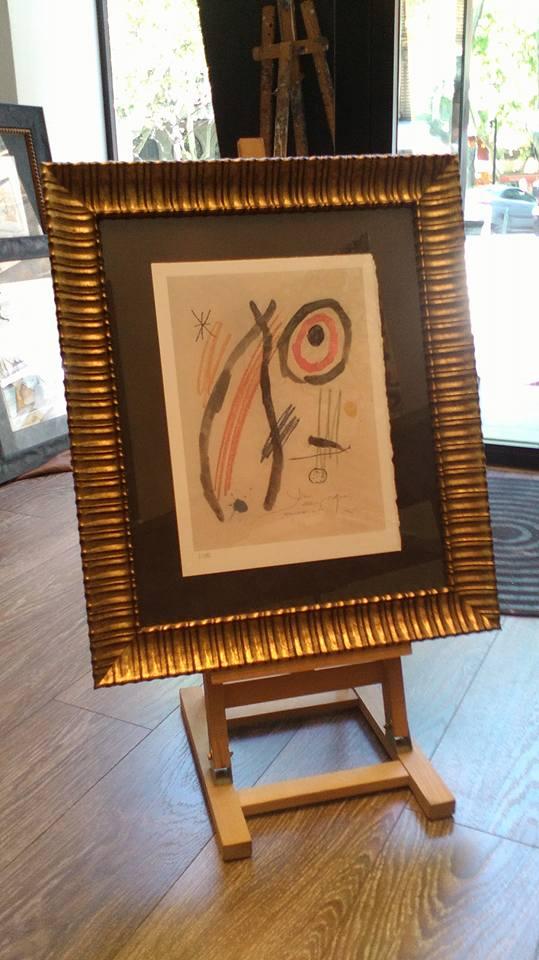 Litografía de Miró