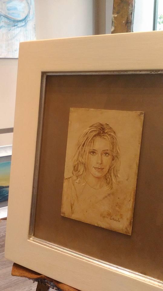 Retrato pintado por Nati Cañada