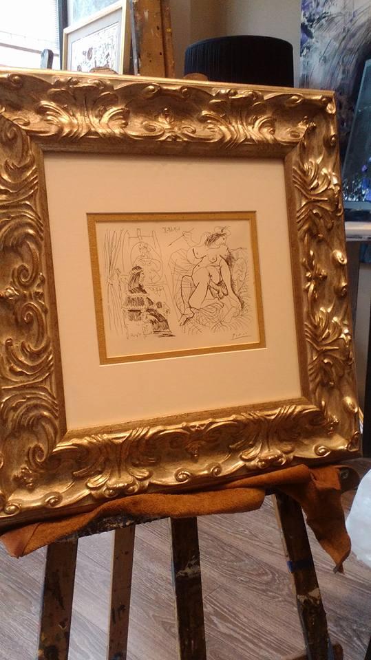 Enmarcación de un Picasso: colección erótica