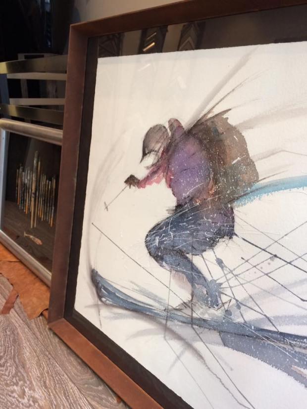 Acuarela de Ricardo Montoro enmarcada  #arte #cuadros #Zaragoza #enmarcaciones #MarisaCervantes #grabados