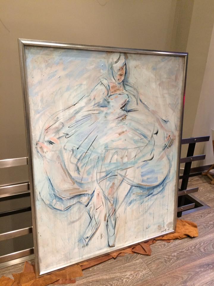 Etérea: autor David Callau @CallauArt #arte #cuadros #enmarcaciones #Zaragoza #MarisaCervantes #pintura