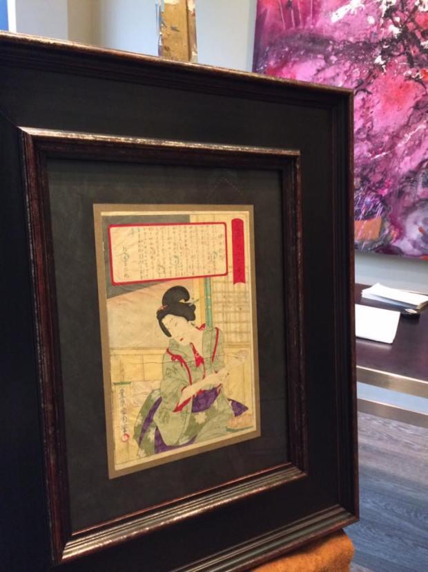 Grabado antiguo Japonés enmarcado #arte #cuadros #Zaragoza #enmarcaciones #MarisaCervantes #Japón #Japan