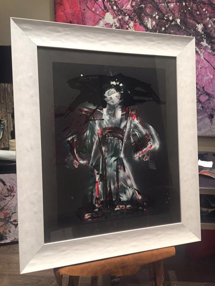 """Z Zen, de la exposición """"Un sueño en Japon"""" de David Callau en Marisa Cervantes #arte #cuadros #Zaragoza #enmarcaciones @CallauArt"""