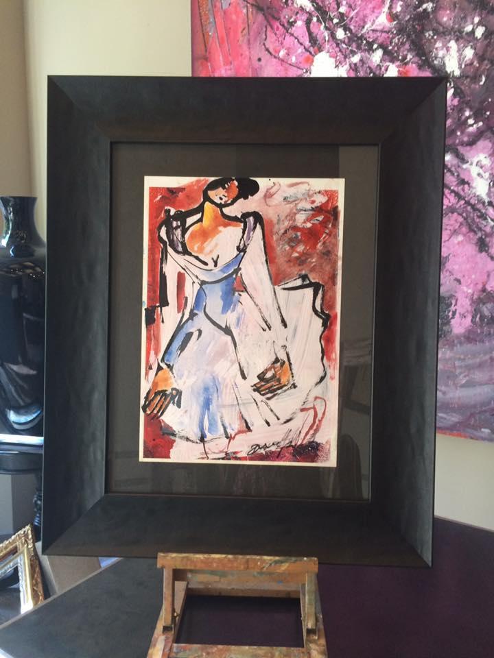 Obra original de David Callau Gené. Título: Berlín @CallauArt #cuadros #arte #Zaragoza #Enmarcaciones #MarisaCervantes #decoracion