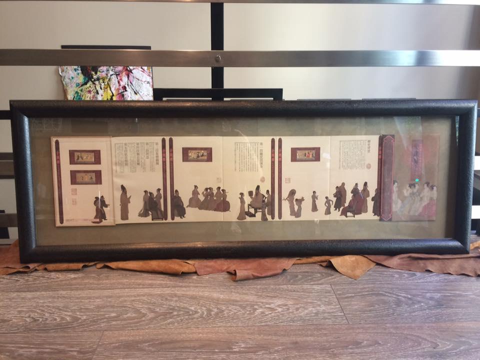 Libro japonés enmarcado #cuadros #arte #decoracion #MarisaCervantes #Zaragoza #enmarcaciones #Japon