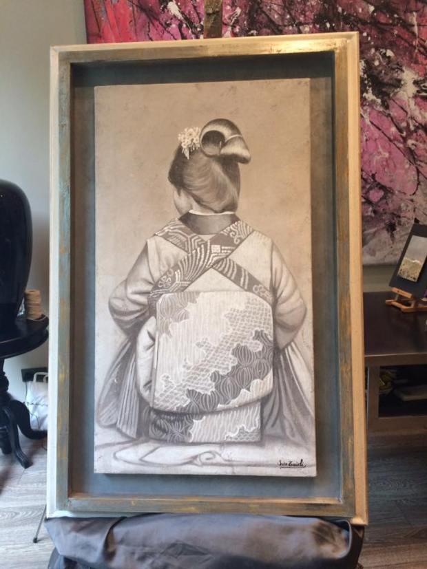 Pinturas al fresco #cuadros #arte #decoracion #MarisaCervantes #Zaragoza  #enmarcaciones #Japon