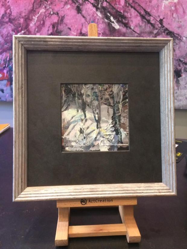 Un óleo pequeño en tamaño pero grande en calidad  #cuadros #arte #decoracion #enmarcaciones #zaragoza #MarisaCervantes