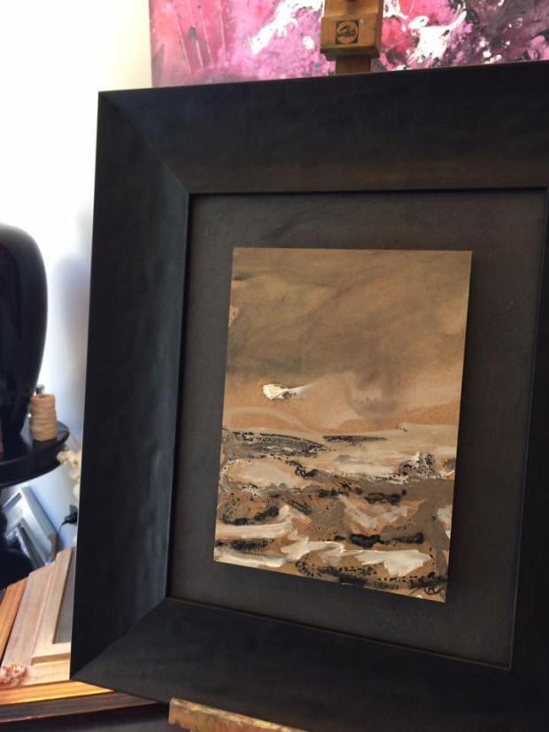 Obra de la colección Monegros de Antonio Álvarez Pardo #enmarcaciones #cuadros #arte #Zaragoza  #MarisaCervantes #marcos #decoracion
